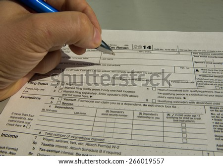Filling the formulary - american tax form
