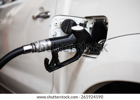 Filling the fuel  - stock photo
