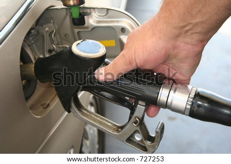 Filling up - stock photo