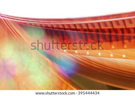 Film background, 16 mm. blurred motion film reel. - stock photo
