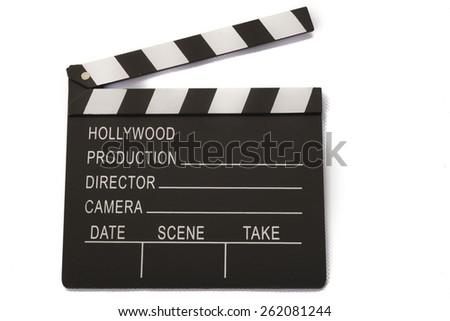 film board on white background - stock photo