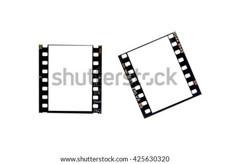 film borders, Blank film strip isolated on white - stock photo