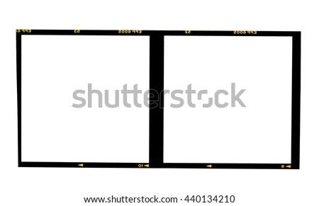 film borders, Blank medium format (6x6) color film frame - stock photo
