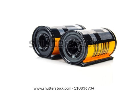Film cartridge - stock photo