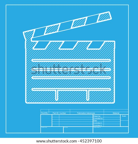film clap board cinema sign white stock illustration 452397100, Powerpoint templates