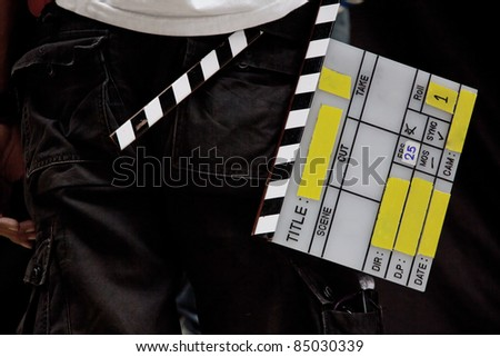 Film clapperboard - stock photo