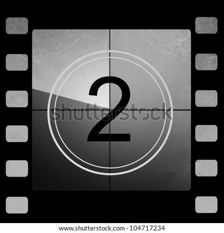 Film countdown 2 - stock photo