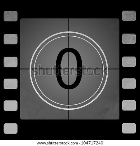 Film countdown 0 - stock photo