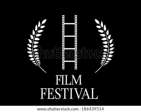 Film Festival Black and White 1 - stock photo