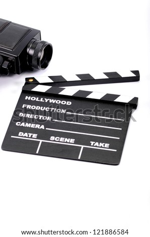 Film industry and film production concept - stock photo