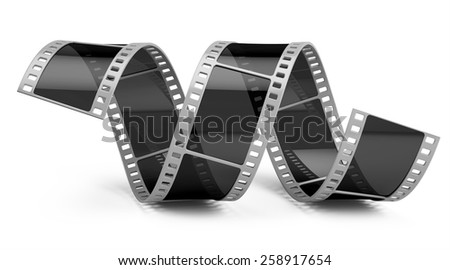 Film isolated on white - stock photo
