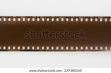 Film, isolated on white background