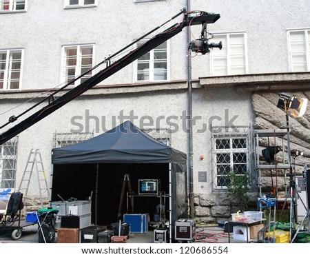 Film making - stock photo