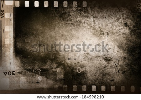 Film negative filmstrip grunge background - stock photo