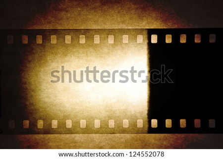 Film negative frame, copy space - stock photo