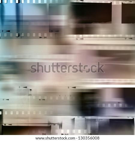 Film negative frames, copy space - stock photo