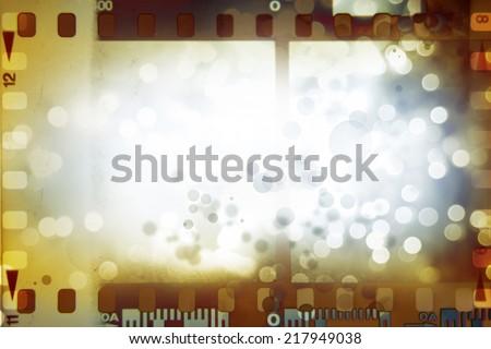 Film negative frames, film strips border - stock photo