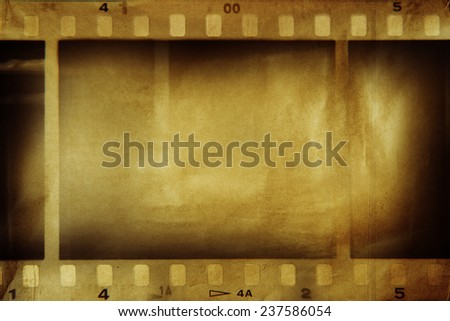 Film negative frames, film strips border - stock photo