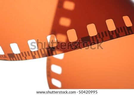 Film on a white background - stock photo