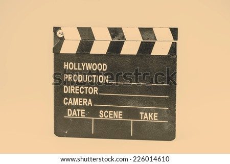Film or Movie flapper on white background - stock photo