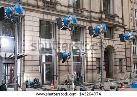 film production lighting system - stock photo