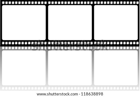 Film reel illustration isolated with reflection - stock photo