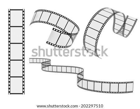film reel set - stock photo