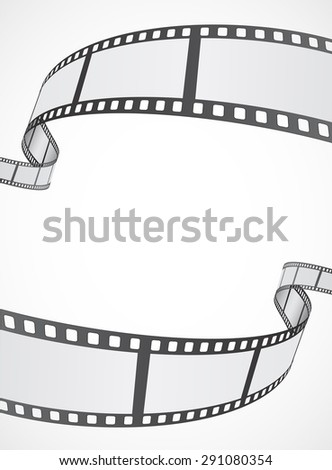 film reel strip abstract frame background design - stock photo