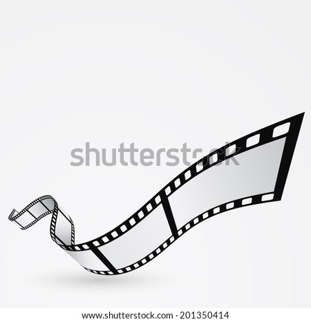 film roll moving design abstract background - stock photo