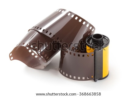film roll on white background - stock photo