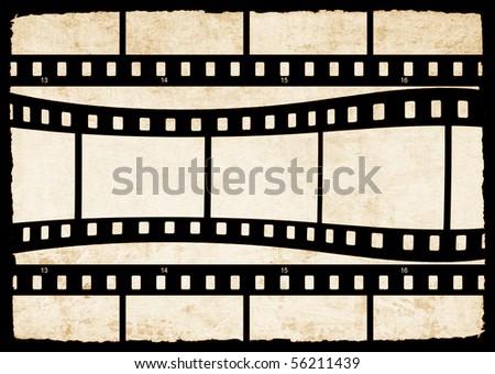 Film strip background - stock photo