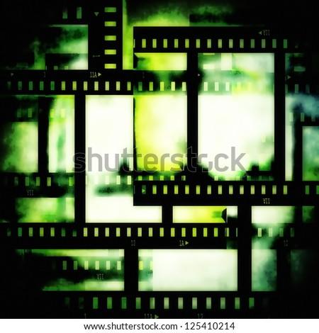 film strip background, texture - stock photo
