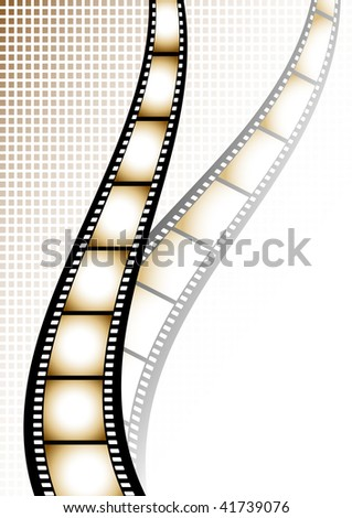Film strip background with place for text.