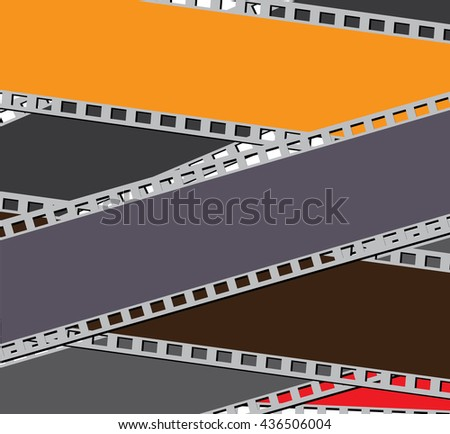 Film strip illustration - stock photo