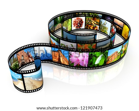 Film strip - isolated on white backgrounds
