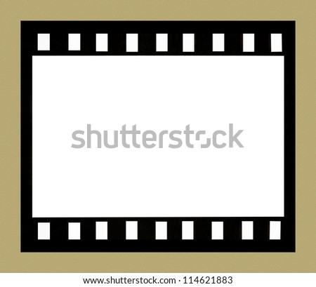 Film strip on brown parchment background with space for your text or image