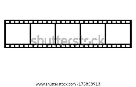 film strip on white background