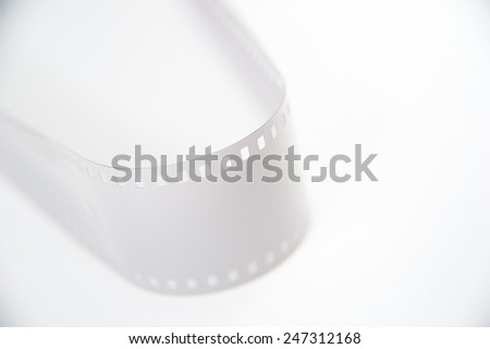 Film strip on white background - stock photo