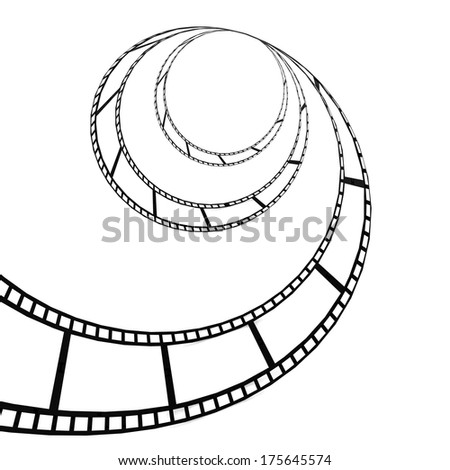 Film strip twisted - stock photo