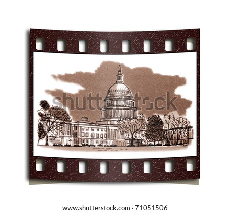 film strip United States Capitol is the location for the Congress of the United States