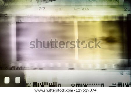 Film strips background, copy space - stock photo