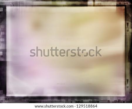 Film strips frame, copy space - stock photo