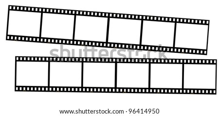 Film strips isolated on white. great for borders, frames, backgrounds, etc. Very high quality so you can resize without loosing clarity. - stock photo
