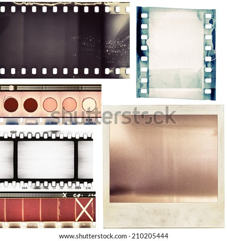 Film textures - stock photo