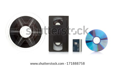 Film transfer service concept on white background