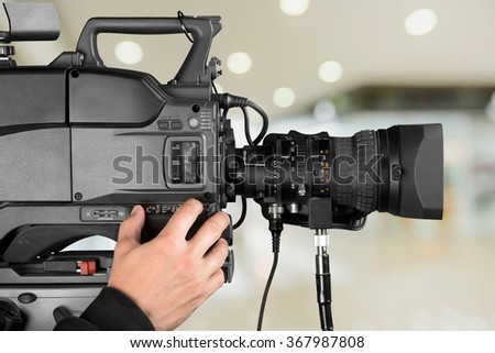 Filming. - stock photo