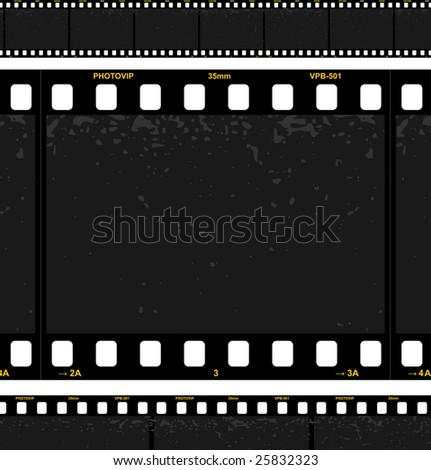 Filmstrip background. Look the vector version of this illustration in my portfolio. - stock photo
