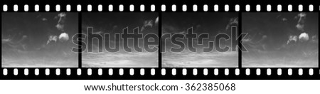 Filmstrip Background Suitable for Custom Text and Images - stock photo
