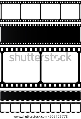 Filmstrip collection on white background. - stock photo