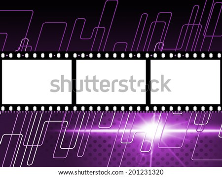 Filmstrip Mauve Showing Text Space And Border